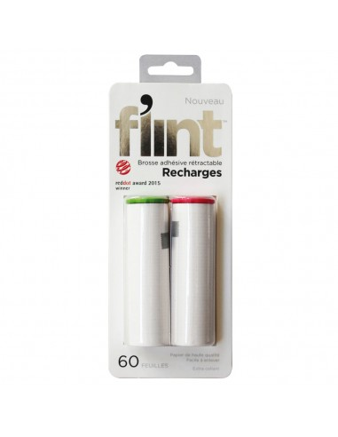 2 RECHARGES BROSSE ADHESIVE RETRACTABLE